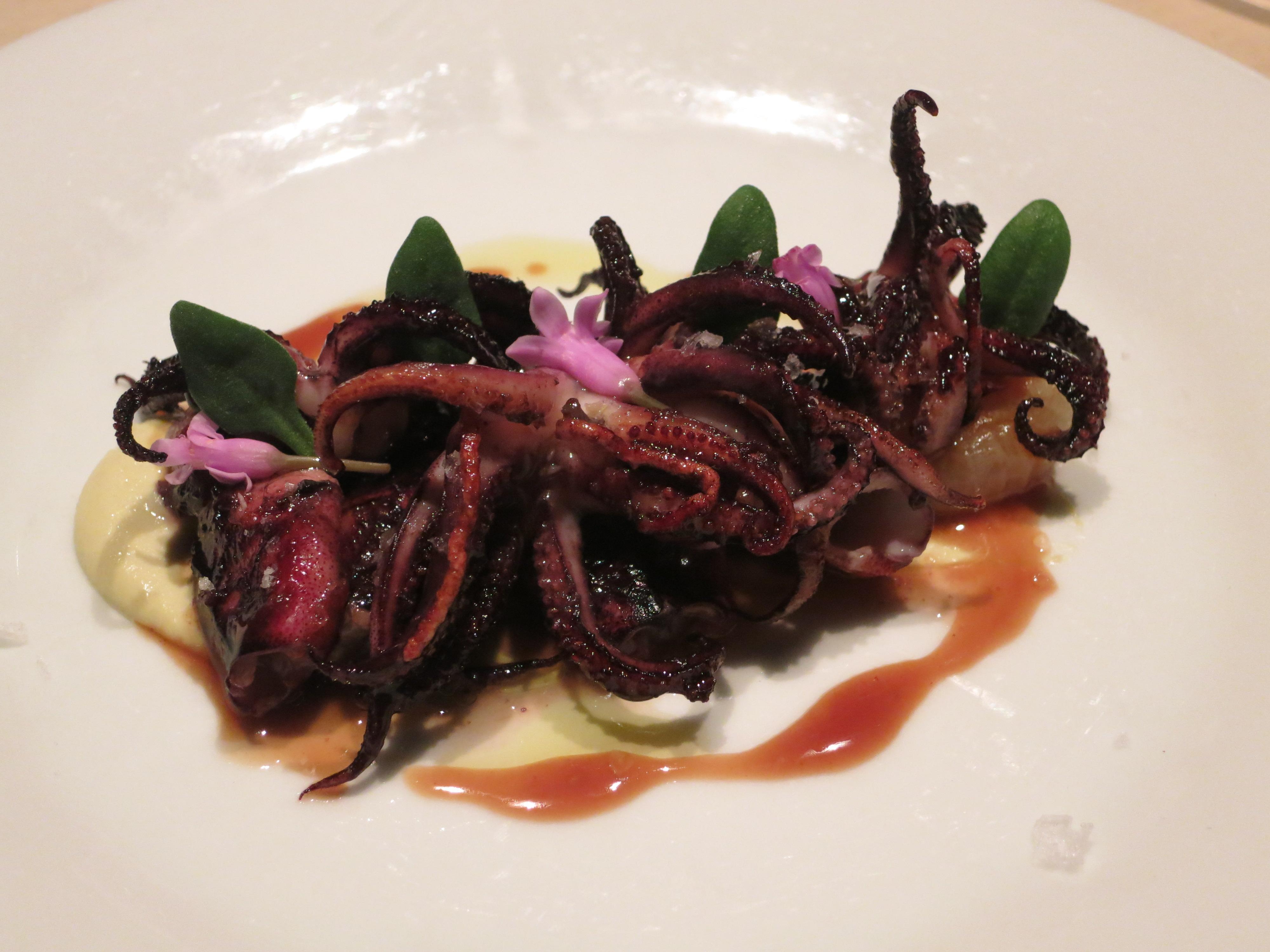 Seared Squid – artichokes, chicken escabeche