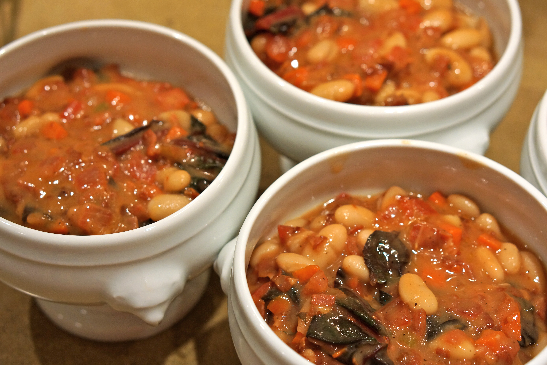 Pancetta, White Bean And Chard Pot Pies Recipe — Dishmaps