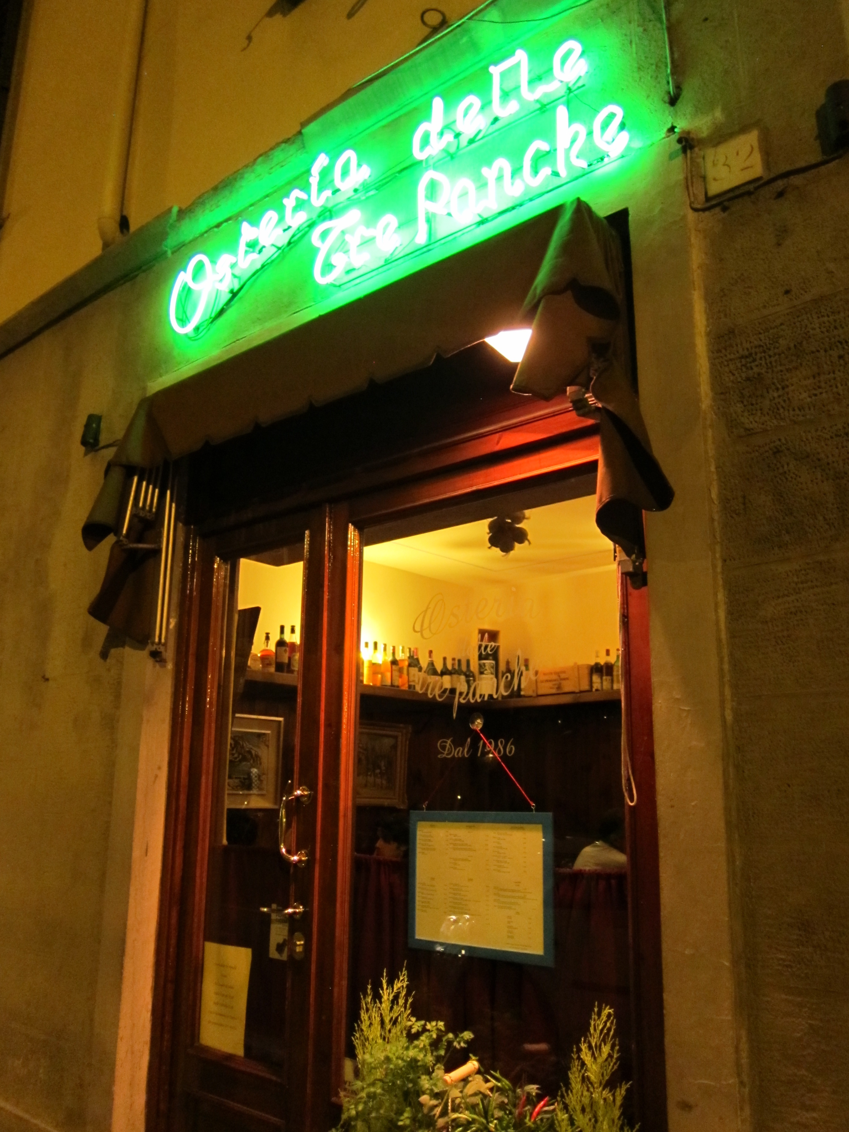 Tre Panche Florence Menu.Osteria Delle Tre Panche Florence Italy The Good Eater